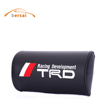 BERSAI 1 piece Carbon fiber style soft Neck Pillow JDM car styling for TRD for Volkswagen ford focus 2 3 honda civic accessories(China)