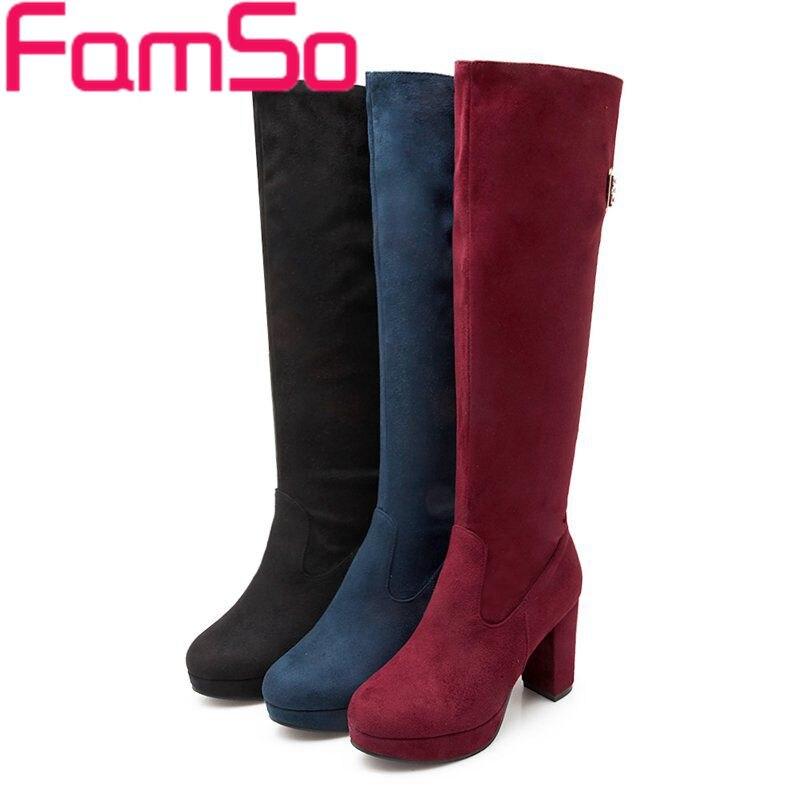 Plus Size34-43 2015 new Sexy Women Boots high heels Knee High Boots Rhinestone Pumps platforms Pumps Winter Snow boots SBT3324<br><br>Aliexpress