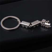 Hot Car Metal Keychain Men Women Key Chain Party Gift jewelry Small train Bag Charm Accessories key Ring K1298(China)