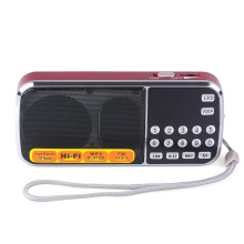 Portable Digital Stereo FM Mini Radio Speaker Music Player with TF Card USB AUX Input Sound Box Blue Black Red(China)