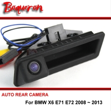 For BMW X6 E71 E72 2008 ~ 2013 Trunk Handle OEM wireless Reverse Camera HD CCD RCA Car Rear View Camera  Back up Parking Camera