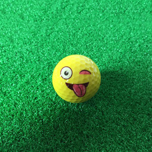 CRESTGOLF 6pcs/12pcs per pack Emoji Golf Balls Funny Golf Practice Balls Yellow Ball Golf Game Training Gift Accessories