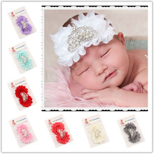10Clrs New Fashion Hot children kids Baby girls pearl Crown fringed flowers Headband Headwear Hair Band Head Piece Accessories(China)