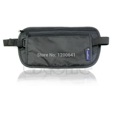 Unisex Travel Security Zipped Money Bum Pouch Passport Waist Belt Bag