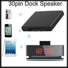 by DHL or EMS 100 pieces Exquisite Bluetooth Music Audio 30 Pin Receiver Adapter For iPhone Dock Speaker
