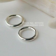 4.5*0.7mm(#A) solid 925 Sterling Silver Closed Jump Rings,  ,1 piece