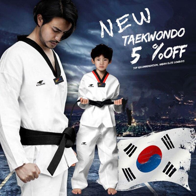 Kids Unisex White Karate Uniform Student Training w// White Belt Set Tae Kwon Do