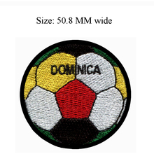 Soccer Ball Dominica embroidery patch 50.8 MM wide / jersey patch/for shabby clothes/ironning(China)