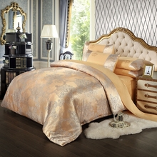 Hot!silk bedding set Queen King size 4pcs Noble Luxury bed set  tribute silk satin jacquard duvet cover sheet bedclothes