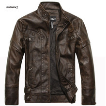 New arrive brand motorcycle leather jackets men ,men's leather jacket, jaqueta de couro masculina,mens leather jackets,men coats(China)