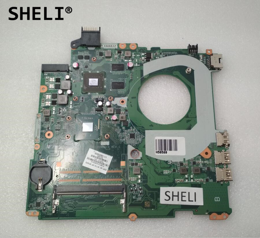 SHELI For HP 15 17 Motherboard with N3540 cpu DAY12EMB6C0 787516-501 787516-001