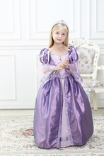 Girls Princess Cospaly Dress Princess Sophia Cosplay Dress Purple Princess Dress Medieval Style Party Ball Gown