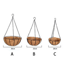 Outdoor Coconut Palm Hanging Baskets Liners Decoration Iron Art Wall-mounted Flower Basket Balcony Plant Vegetables Flower pots(China)