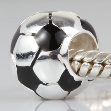New DIY Sport Football Charms Original 100% Authentic 925 Sterling Silver Beads fit for Pandora bracelets & Necklaces