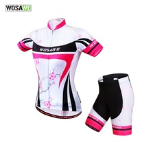 Buy WOSAWE Summer Women Cycling MTB Short Sleeves Jersey Sets Bike Bicycle Suits Shirts Padded Cycling Short Sport Wear Uniforms for $28.23 in AliExpress store