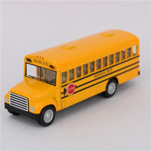 12cm Diecast Metal School Bus Cars Model, Simulation Alloy Pull Back Car Classical Mini Bus Toy / Brinquedos, Toys For Children