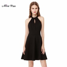 Buy Casual Dress AS05587BK Alisa Pan Line Empire Short Women Sexy New Arrival Halter Sleeveless Casual Dress 2017 for $23.74 in AliExpress store