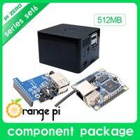 New Orange Pi Zero Set 6:Orange Pi Zero 512MB+Expansion Board+Black Case development board beyond Raspberry Pi