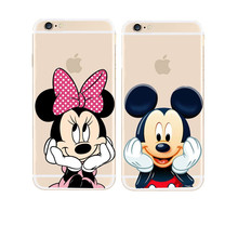 Buy Hot New Cute Mickey Mouse Mickey Minnie Hard Cover Case Apple iPhone X 5 5S SE 5C 6 6S 7 8 Plus Transparent Case for $1.22 in AliExpress store