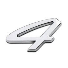 4 Number Four Wheel Drive Full Metal Zinc Alloy Car Styling Refitting Emblem Tail Badge Sticker for Porsche Panamera SUV Sport
