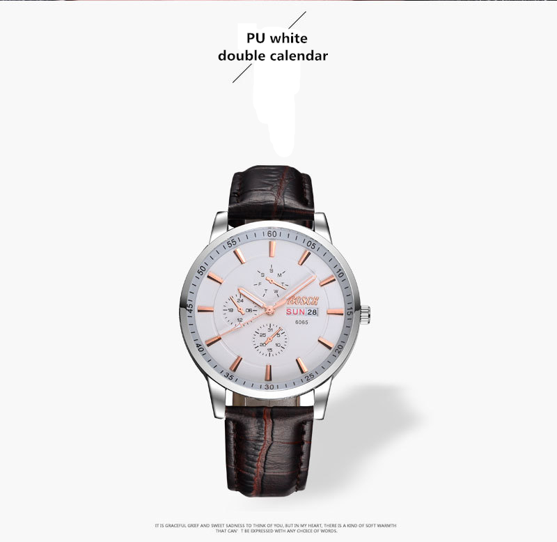 Quartz watches classic waterproof casual fashion watch<br>