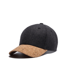 Wuke wool color during the spring and autumn winter warm trend of Korean male female Baseball Cap Hat all-match peaked cap plate(China)