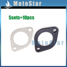 5x Carburetor Manifold Intake Inlet PipeSpacer Seal 30mm Gasket For Pit Dirt Bike Motorcycle 150cc 160cc 250cc Engine