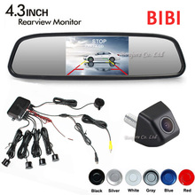 "Dual Core Car Parking Reverse Sensor Buzzer Speaker Radar Rear View Camera Show on 4.3"" Mirror Monitor Screen Parking Assistance(China)"