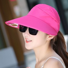 2017 New Style Sun Hats sun visor hat Sun Hats for women with big heads beach hat summer UV protection Hot Sales