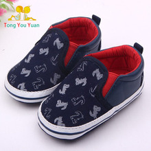 0-2 year old boy baby first walk shoe blue surface tyrannosaurus rex embroidery new born boy baby boy shoes first walkers 1614(China)