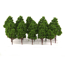 20pcs Mix Plastic Model Trees Train Railroad Scenery Dark Green HO N Z Scale Model Building Kits Children Classic Toys Supplies(China)