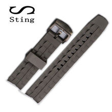 22MM Silica gel Watch Band Strap for CASIO EF-550 Watches Replacement Rubber Men&Women Wristband Waterproof(China)