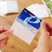 White IC Card Sets ID Card Holder Membership Bus Card Sets Protective Sleeve carteira masculina carteras mujer(China)
