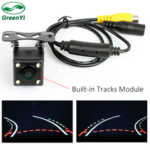 Auto Parking Assistance Waterproof 170 Angle HD CCD Intelligent Reversing Trajectory Dynamic Tracks Rear View Vehicle Camera