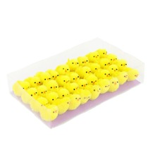 36pcs Small Cute Fully Yellow Chenille Easter Chicks Party Favors Kids Easter Egg Bonnet Decoration,1 1/2-Inch