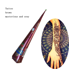 Hot airbrush makeup Henna Tattoo machine Paste Cream Cones Indian Mehndi Brown Color Paste For Body face Paint glowing airbrush