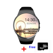 2017 New Product KW18 Smart Watch Android/IOS SAMRT BANDS  Bluetooth Reloj Inteligente SIM Round Heart Rate Monitor Watch Clock