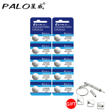 Palo Hot Selling 10 Pcs Batteries CR2032 3V Lithium Type Button Coin Cell Watch Battery ECR2032 DL2032 KCR2032(China)