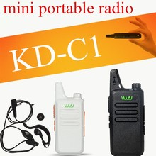 WLN KD-C1 UHF 400-470 MHz MINI handheld transceiver two way Ham Radio comunicador Walkie Talkie Com fone de ouvido Cabo