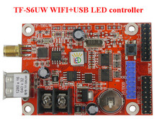 free shipping TF-wifi-S6UW Wireless cell phone controlled WIFI communication Wireless LED sign WIFI controller(China)