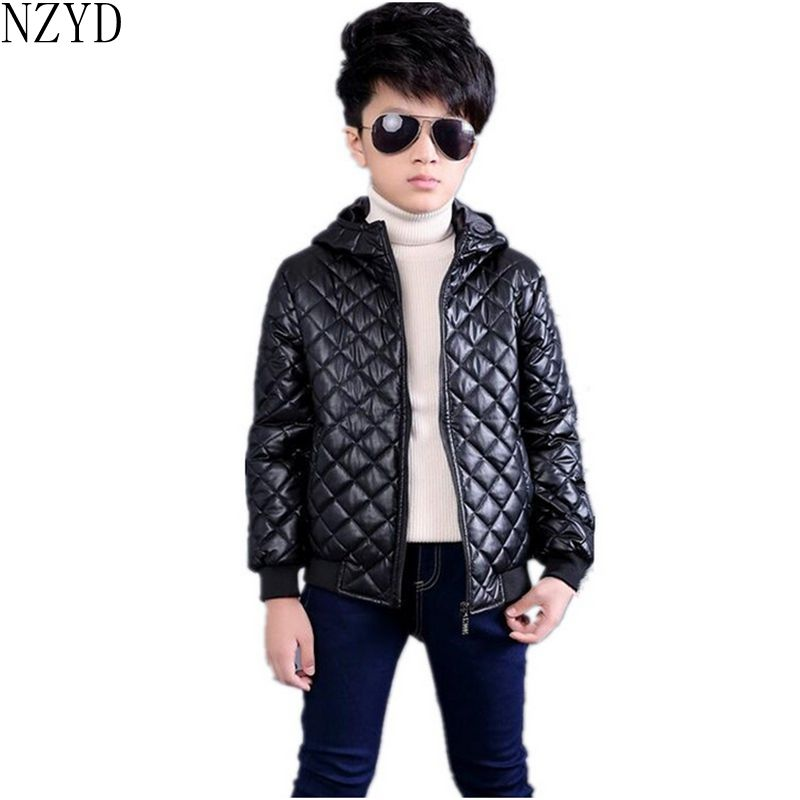 2016 New Fashion Autumn Winter Boy Clothes Long Sleeve Zipper Kids Leather Jacket Coat Leisure Handsome Children Coat HL0587<br>