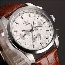 Fashion SEWOR Men Luxury Brand Leather Watch Date Day Display Automatic Mechanical Wristwatch Gift Box Relogio Releges 2016 New