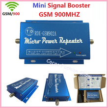 Hot sell Mini GSM 2G 900MHz Mobile Cell Phone Signal Amplifier Booster Repeater GSM 900mhz Celular Repeater Amplifier Wholesale(China)