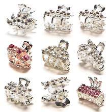Butterfly Small Mini Hair Clip Claw Clamp Retro Crystal Rhinestone Hairpin Jewelry Hair Accessories For Women(China)