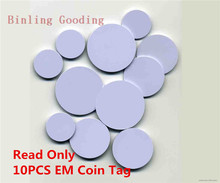 10Pcs/lot 125khz EM4100 TK4100 RFID Tag Coin Card Read Only Access Control Card Diameter 25mm