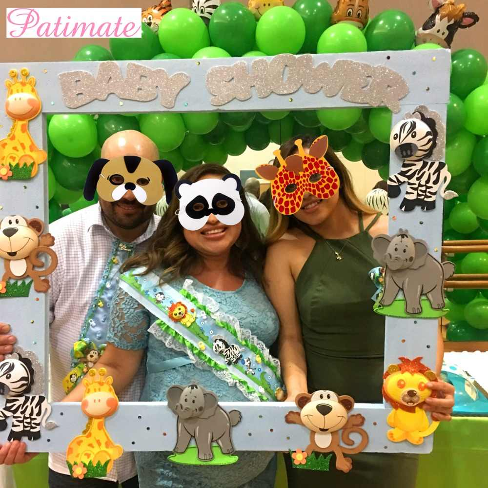 PATIMATE 12pcs EVA Foam Masks Animal Party Decor Summer Party Birthday Decoration Safari Jungle Party Decor Kids Party Favors
