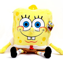 Cute 3D Cartoon SpongeBob Plush Bag Kindergarten Preschool Backpacks Children School Bags for Boys Girls Kids Bag Schoolbag