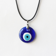 Turkish Evil Eye Necklace 3CM Glass Charm Pendent Blue Kabbalah Jewish Fashion Jewelry Protector Men Women Hand made