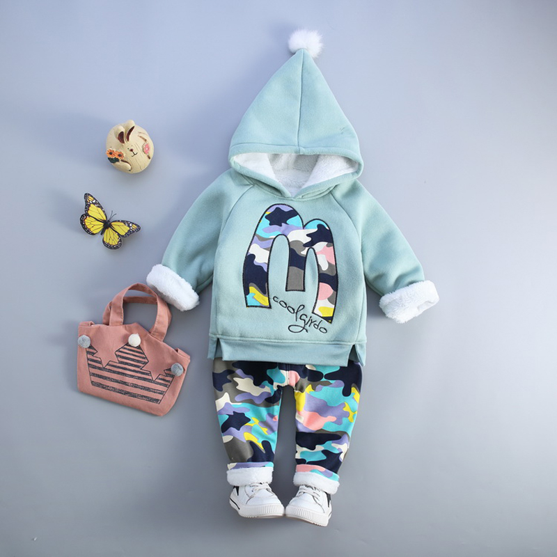 Kids Boy Girl Warm Clothing Suits Tracksuit Hoodies + Pants Baby Dresses for Boys Clothes Girls Outfit Children's clothes boy(China)