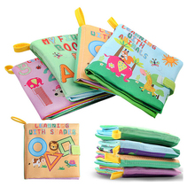 Newborn Baby Toys Learning Educational Digital/Animal Kids Cloth Books Cute Infant Baby Fabric Book Ratteles Toy
